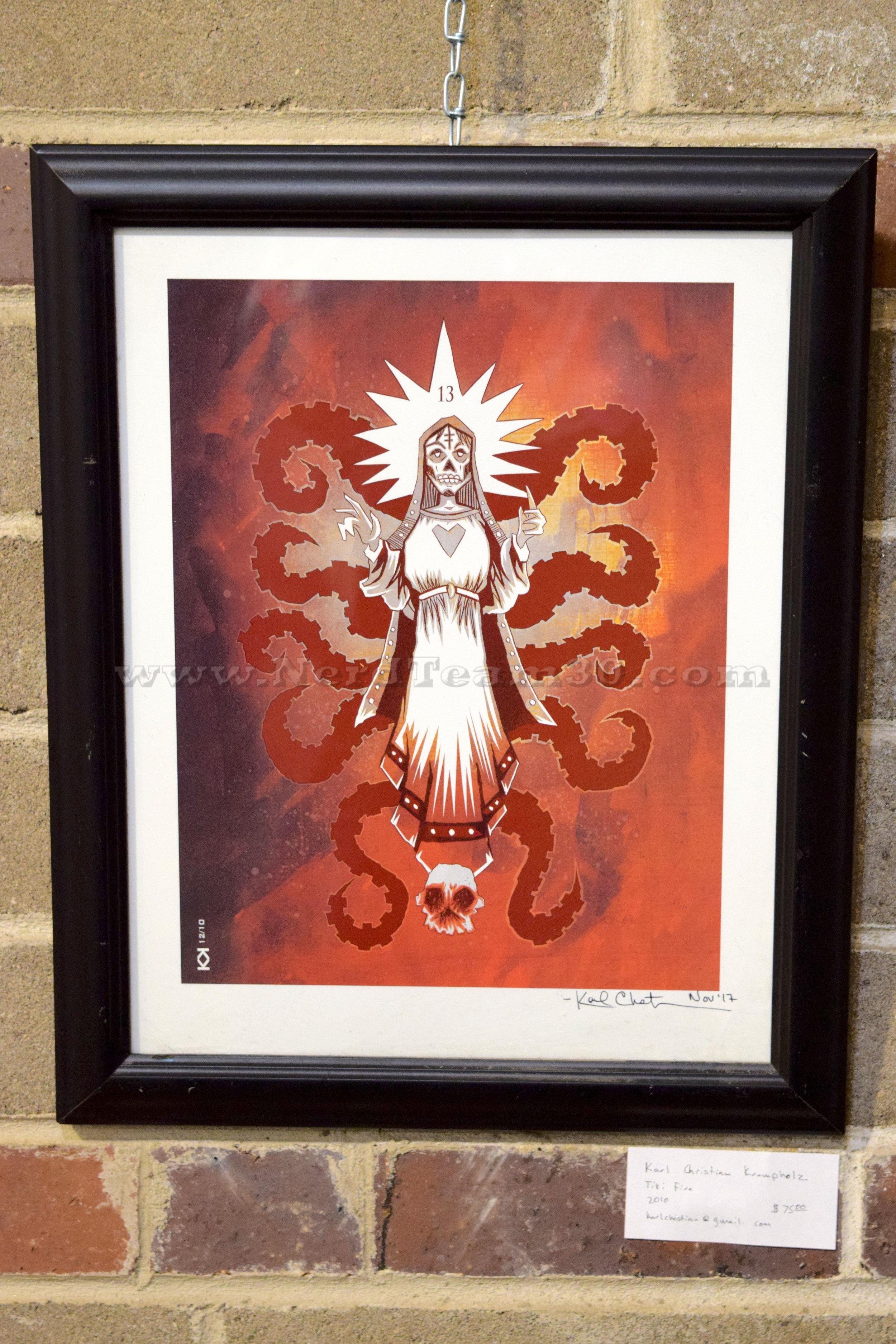 "Karl Christian Krumpholz ""Tiki Fire"" 2010   $75 KarlChristian@gmail.com"