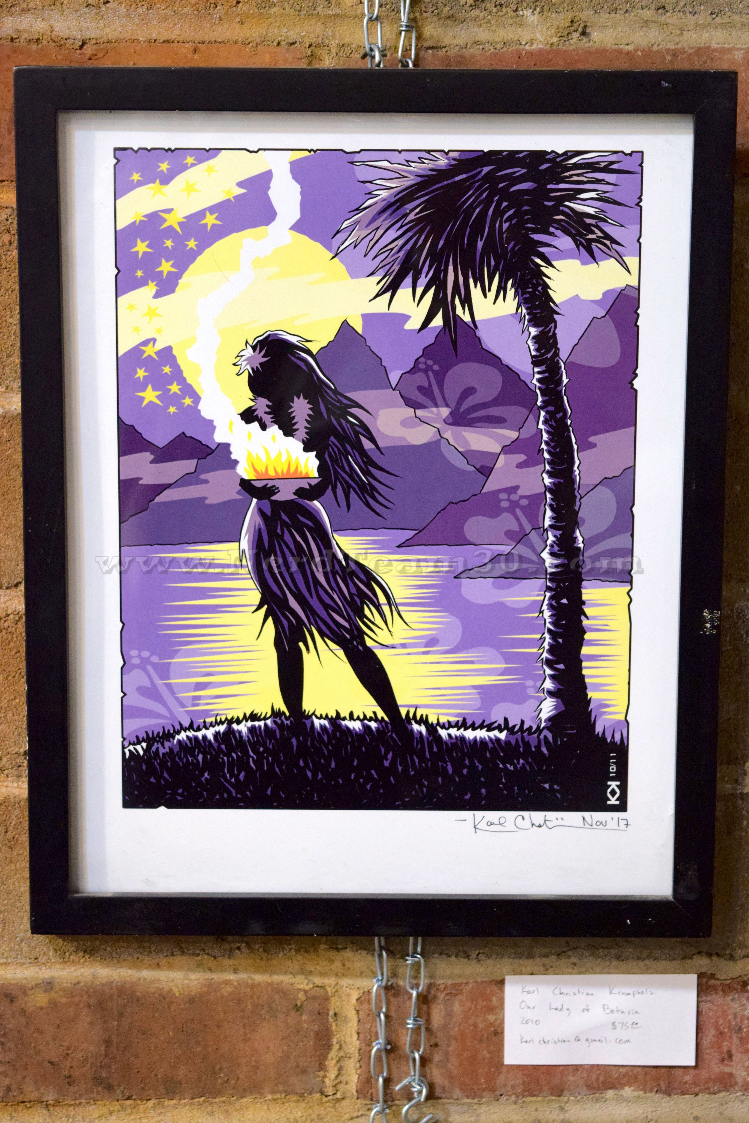 "Karl Christian Krumpholz ""Our Lady of Bothria"" 2010   $75 KarlChristian@gmail.com"