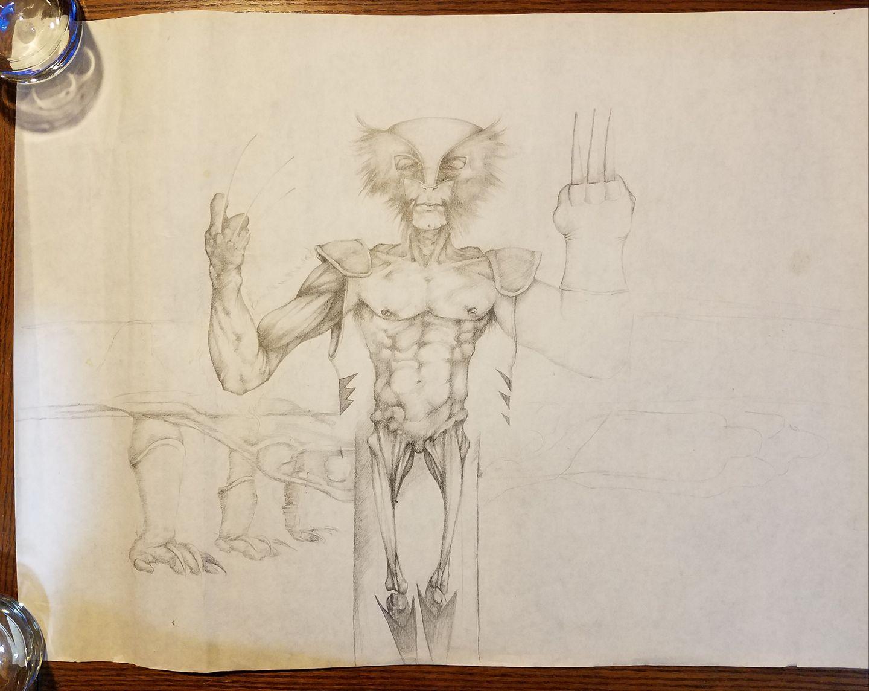 My Take Art Leave Art (TALA) trades: Wolverine by Daniel Crosier.