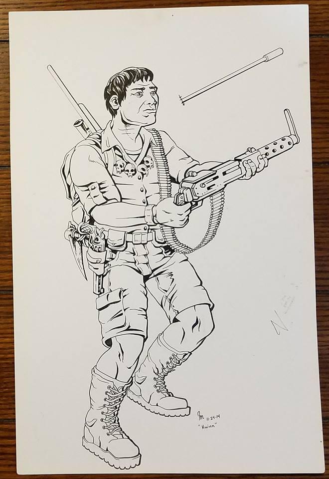 My Take Art Leave Art (TALA) trades: G.I. Joe: Kwinn by J. James McFarland.