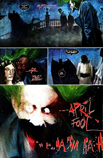 An example of the lettering on Arkham Asylum done by Gaspar Saladino.