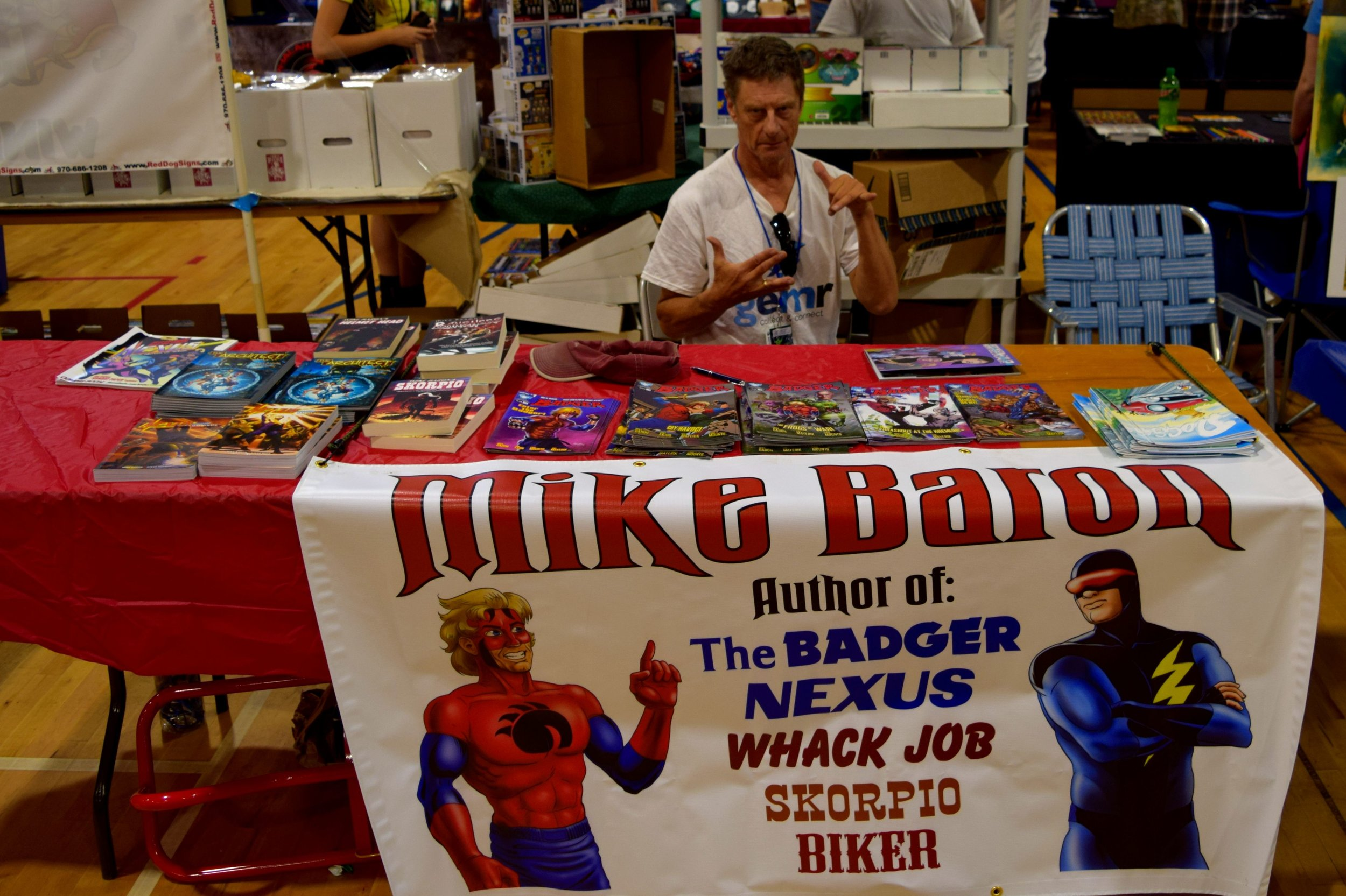 Mike Baron at Fort Collins Comic Con 2016. (1)