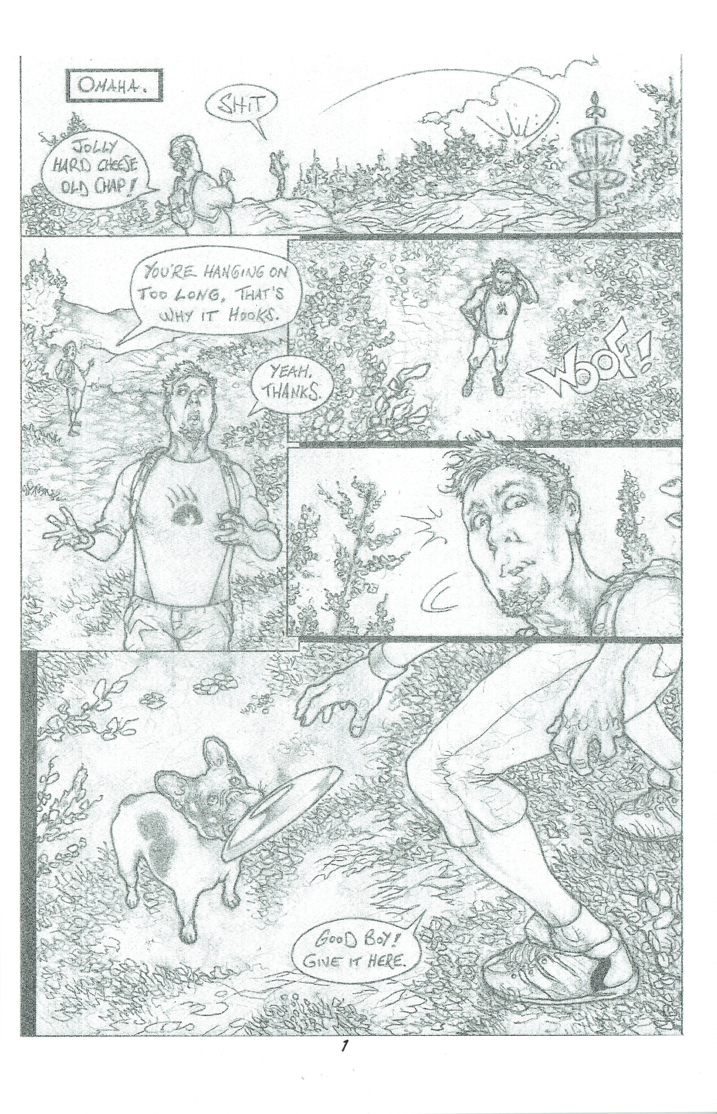 A page from  Dogs  drawn by Cesar Madarro.