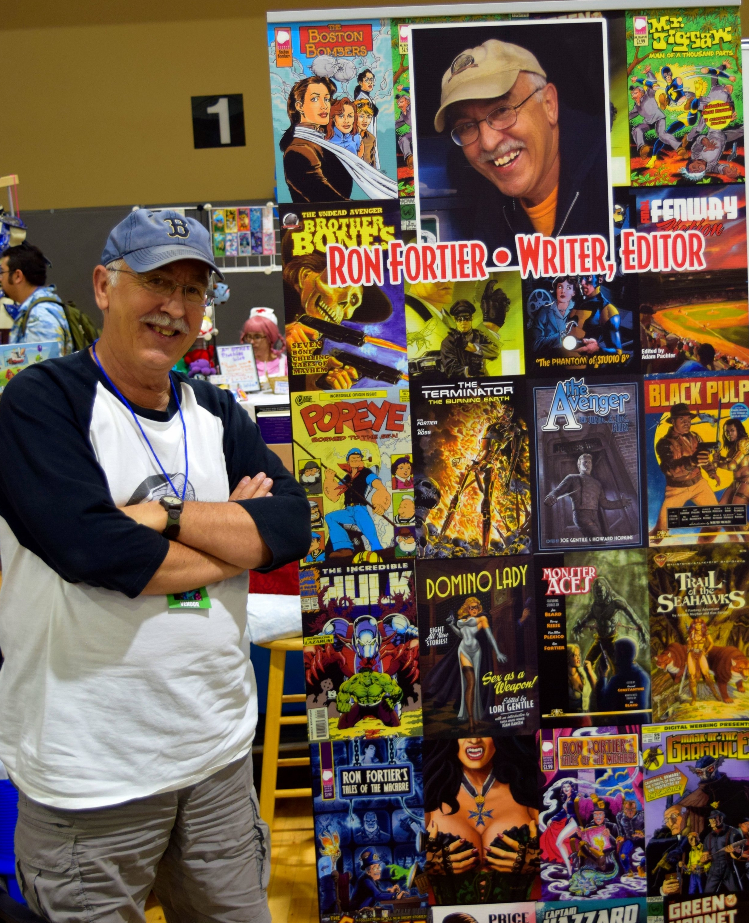 Ron Fortier at Fort Collins Comic Con 2016.