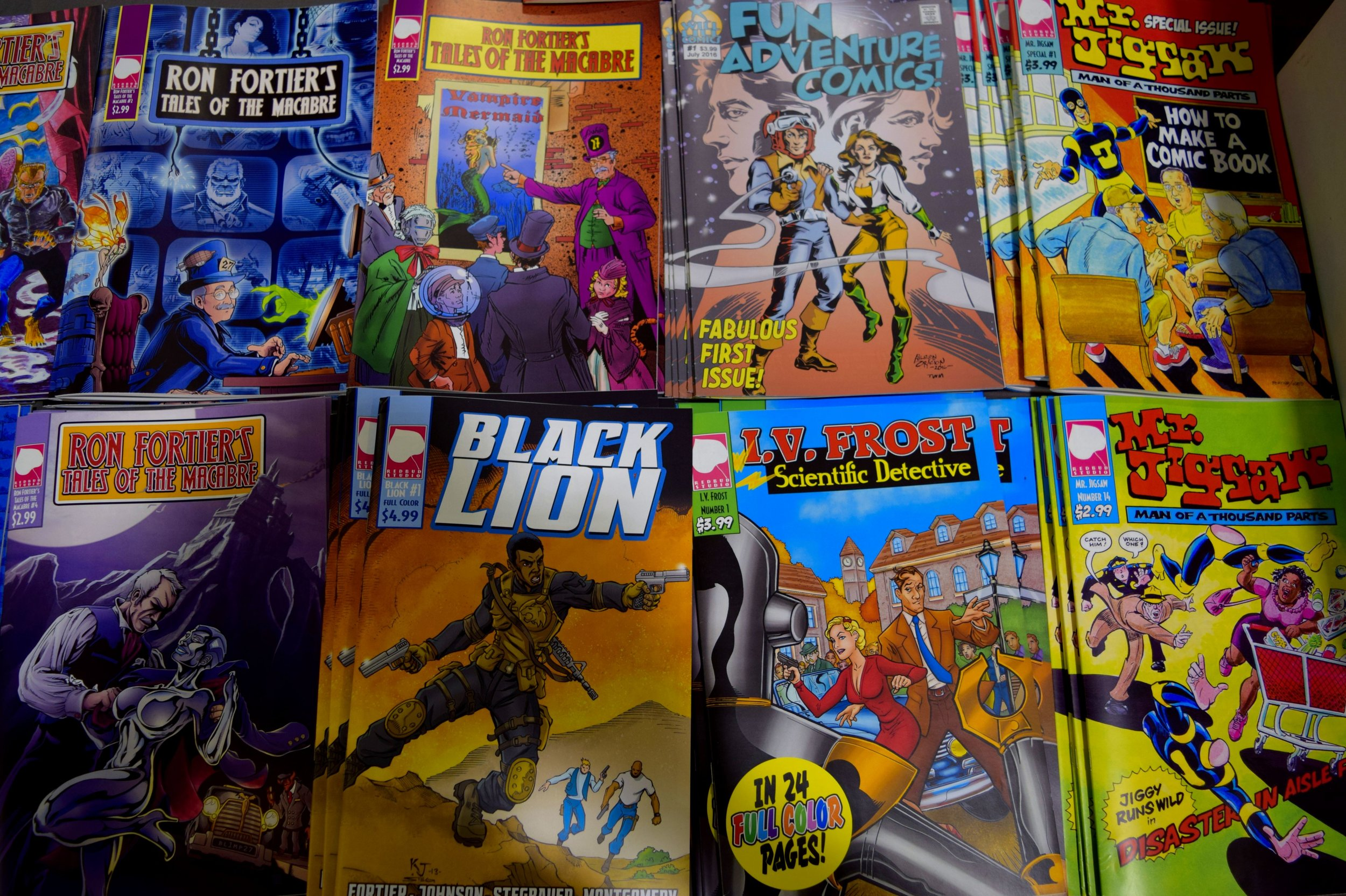 More comics from Ron Fortier at Fort Collins Comic Con 2016.