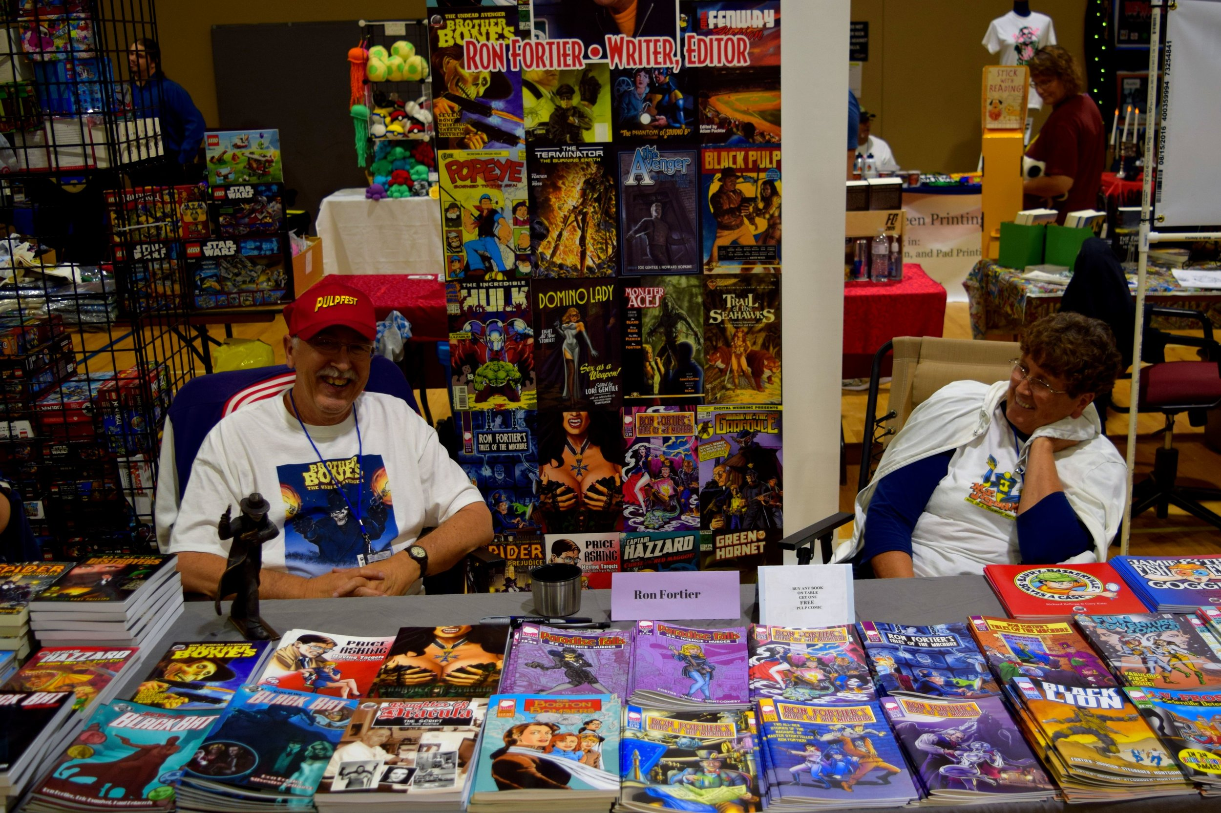 Ron Fortier and his wife at Fort Collins Comic Con 2016.