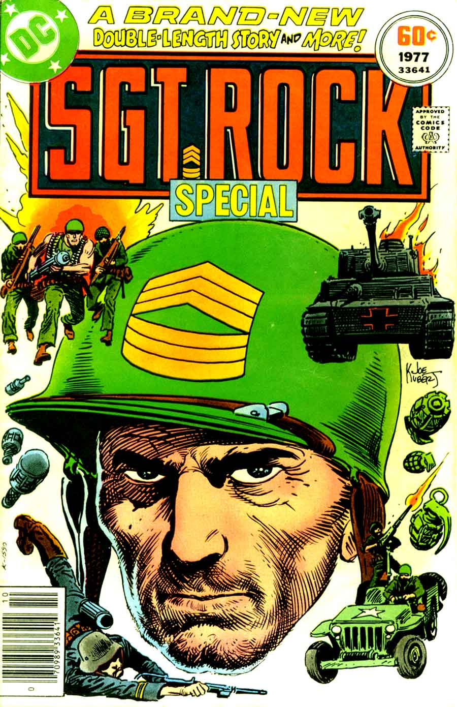 Sgt. Rock Special #3 (1977) from DC comics. Cover by Joe Kubert.