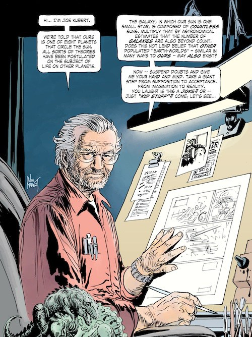 Joe Kubert as drawn by Joe Kubert.