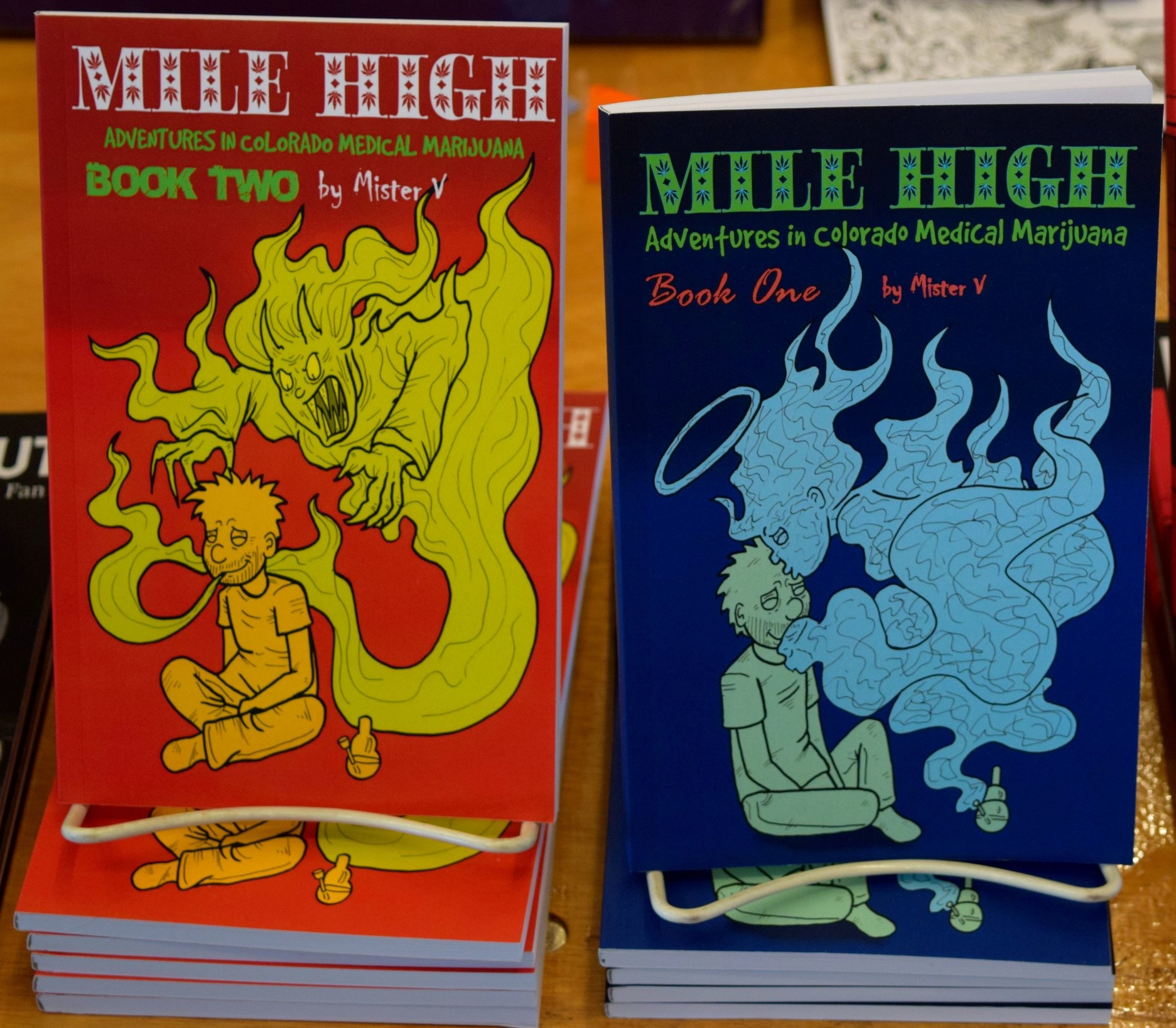 Mile High: Adventures in Colorado Medical Marijuana books #1 & #2 from Mister V.