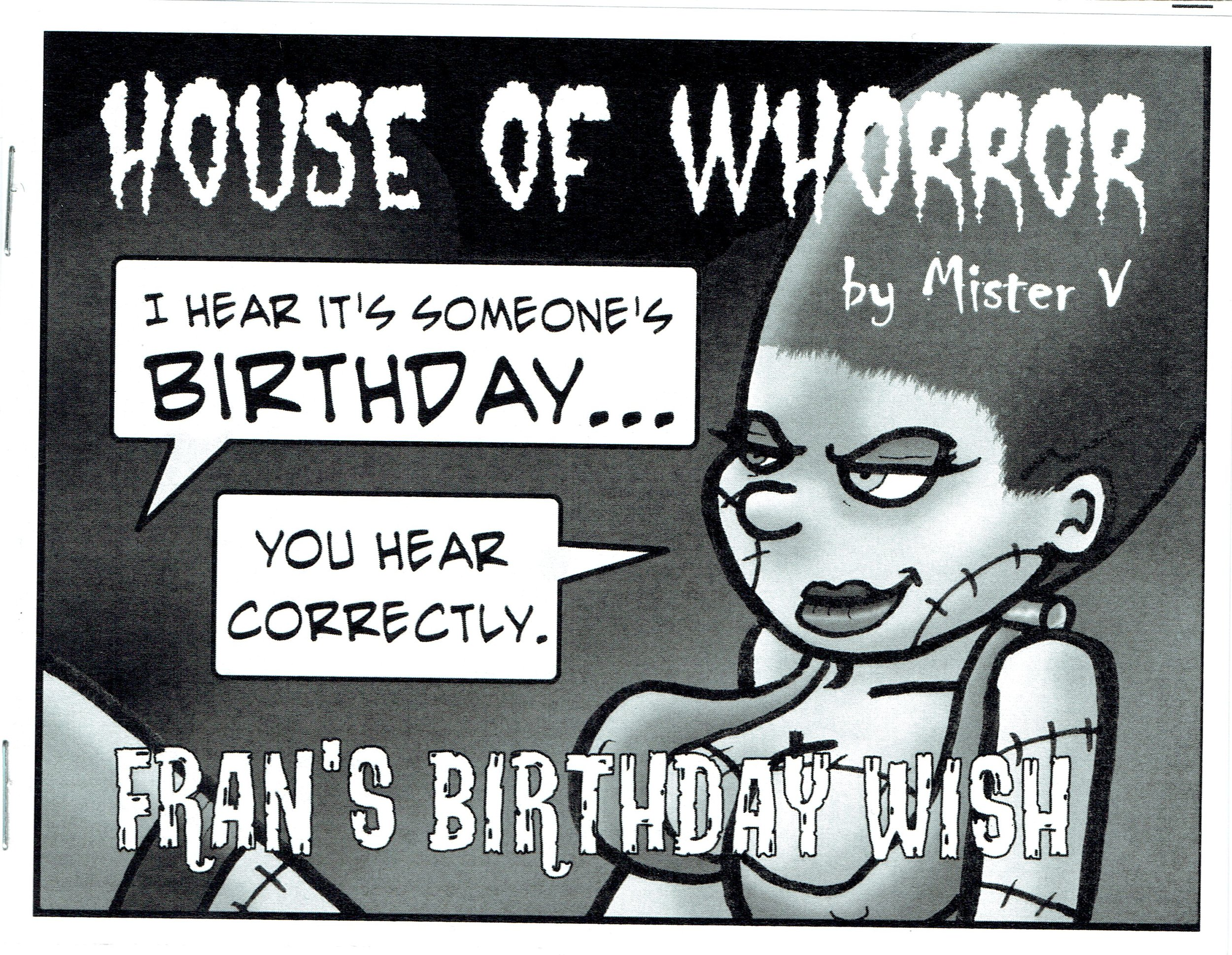House of Whorror, a tiajuana bible from Mister V.