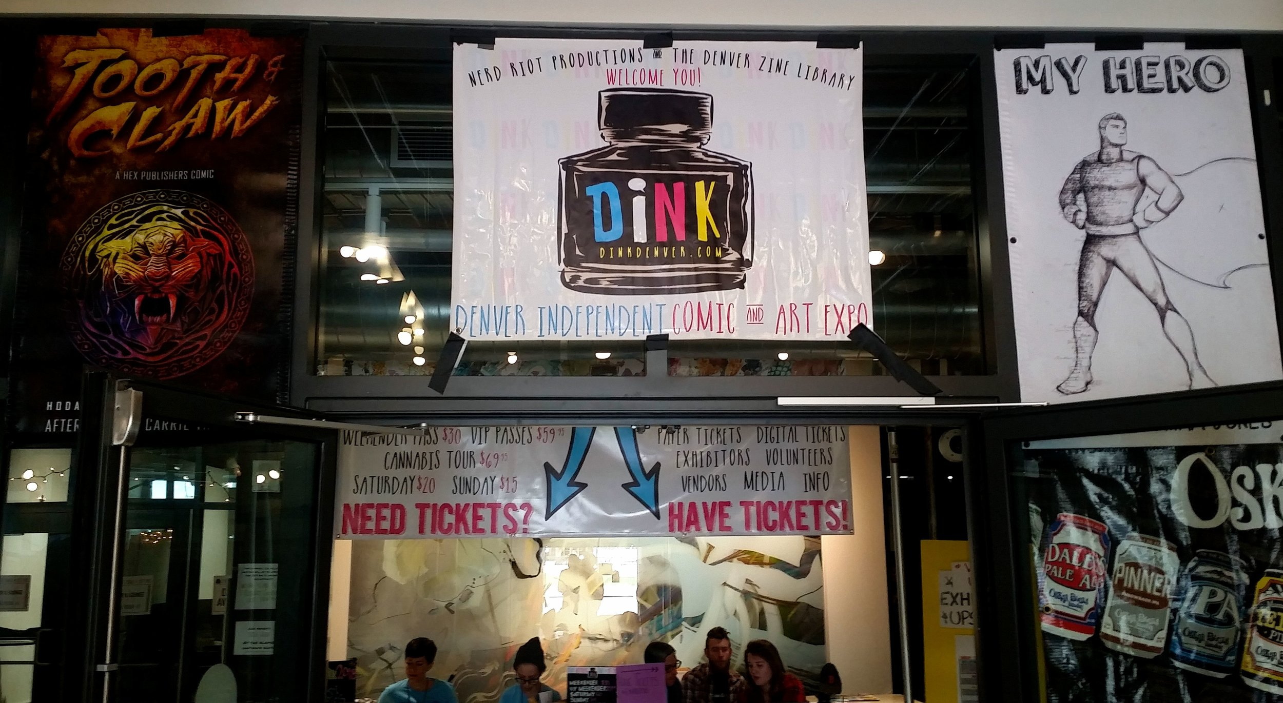 Indoor banners at DINK 2017.