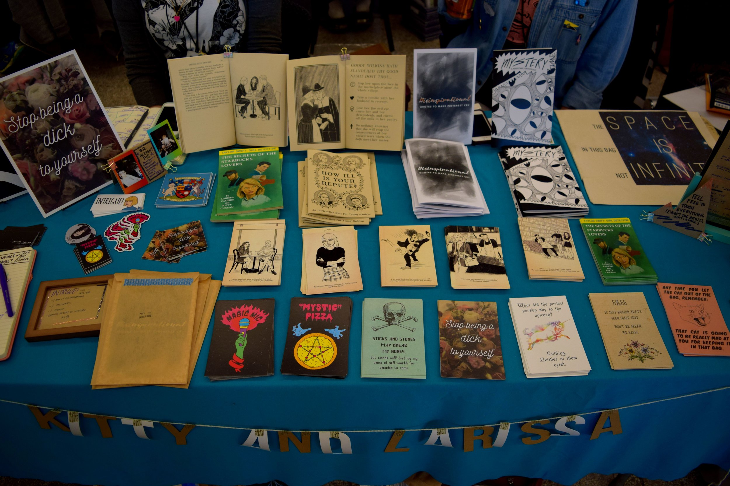 Books and prints from Larissa Zageris & Kitty Curran at DINK 2017.