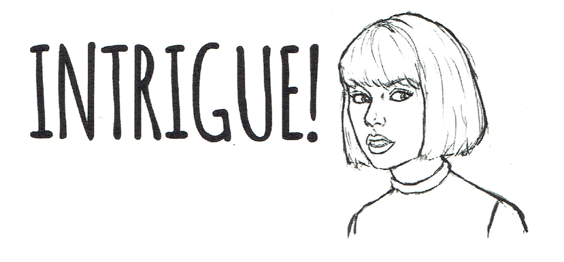Taylor Swift: Girl Detective - Intrigue sticker.