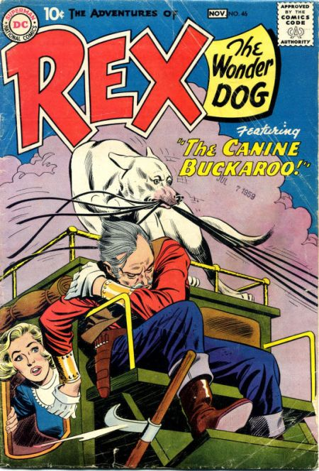 The Adventures of Rex the Wonder Dog (1952) #46. Pencils by Gil Kane, inks by Joe Giella.