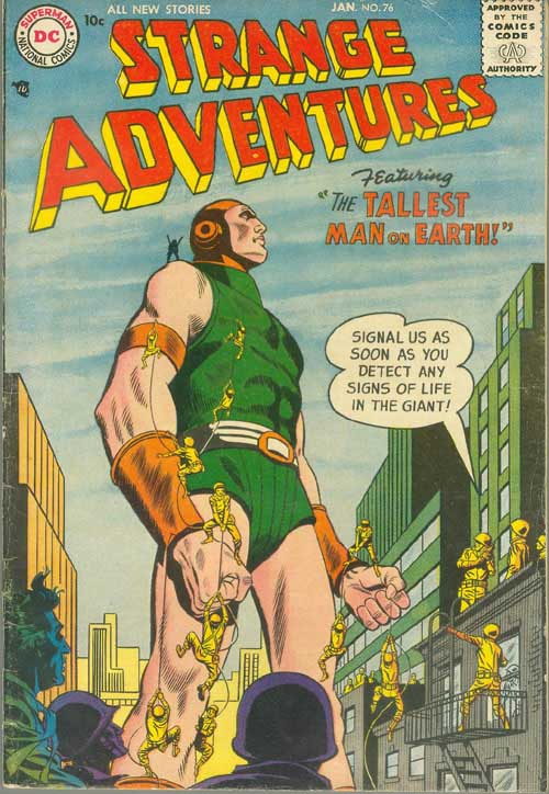 Strange Adventures (1950) #76. Pencils by Gil Kane, inks by Joe Giella.