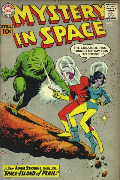 Mystery in Space (1951) #66. Pencils by Carmine Infantino, inks by Joe Giella.