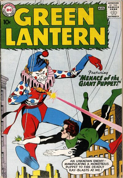 Green Lantern (1960) #1. Pencils by Gil Kane, inks by Joe Giella.