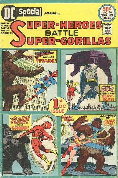 DC Special (1975) #16. Gorilla cover art featuring Ross Andru, Mike Esposito, Joe Giella, Carmine Infantino, George Klein, and Curt Swan.