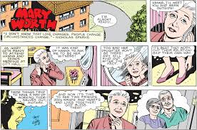 Mary Worth by Karen Moy & Joe Giella from February 8, 2015.