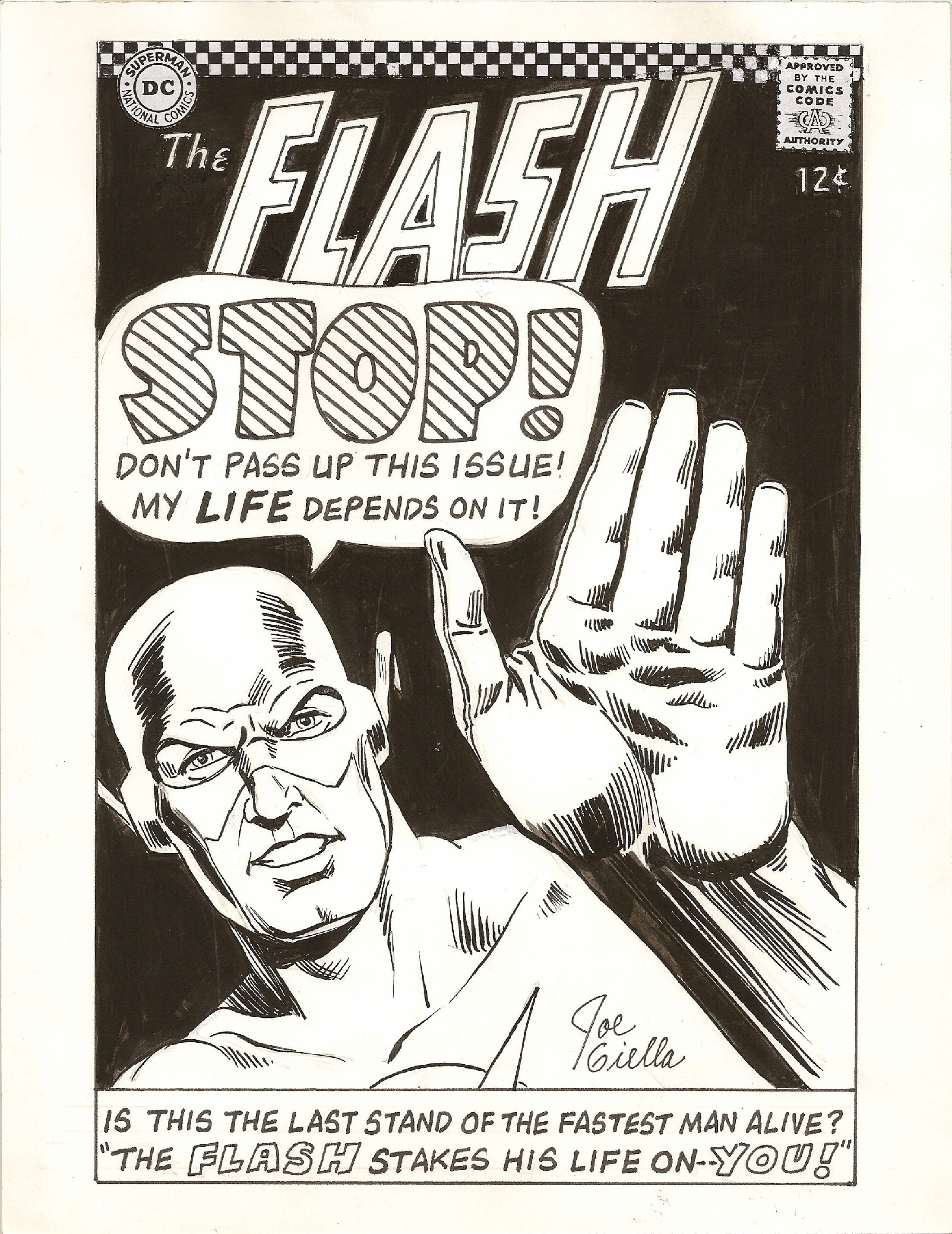 The Flash (1959) #163 cover re-creation commission done by Joe Giella.