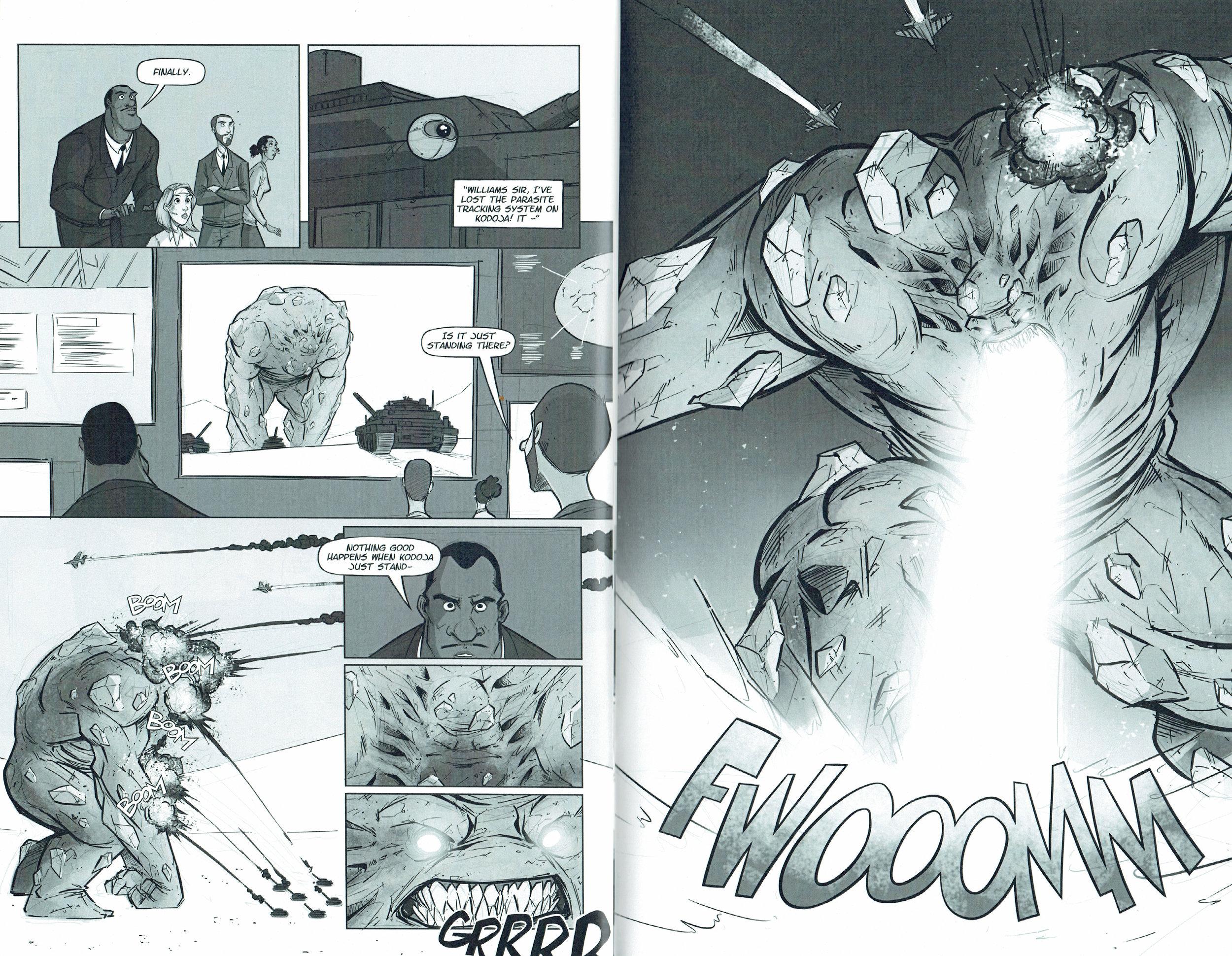 An interior page from Kodoja vol.2 #2.