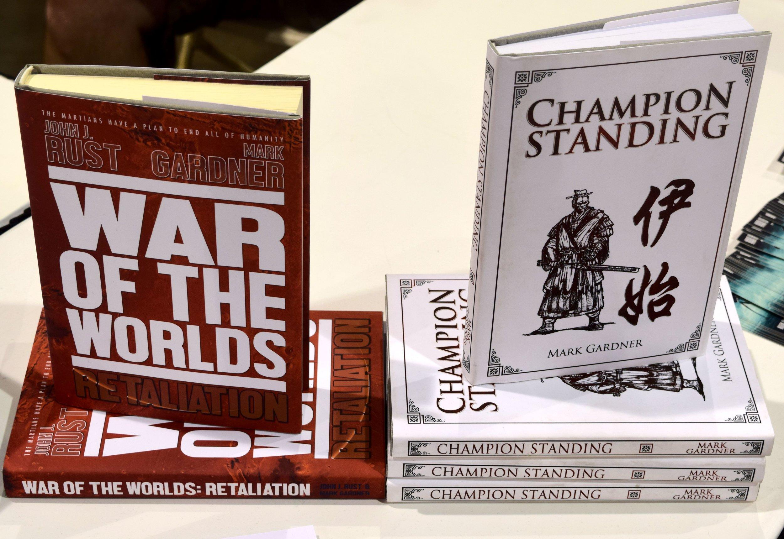 Hardcovers from Mark Gardner & John J. Rust at Phoenix Comic Con 2017.