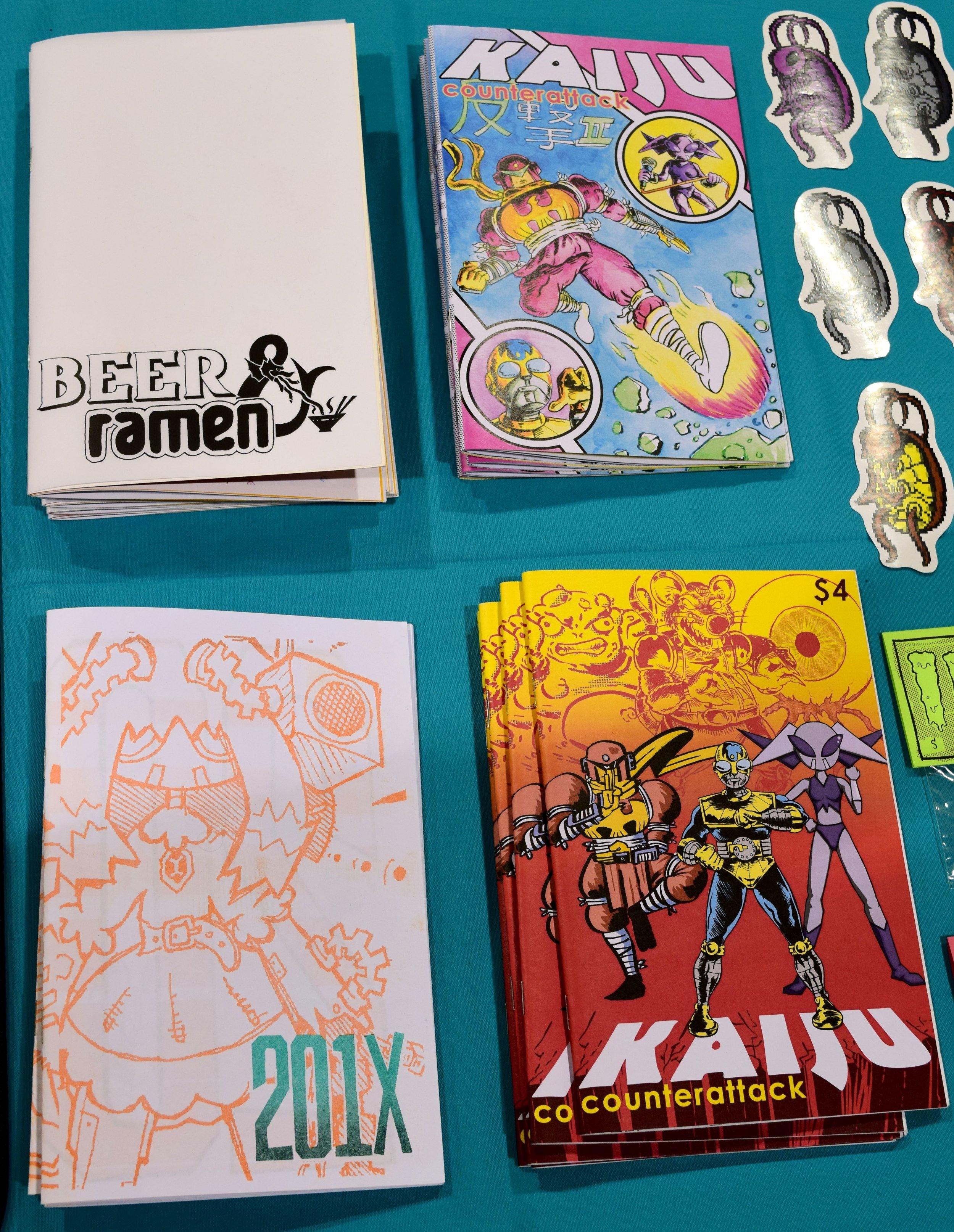 Comics from Reset Survivor at Phoenix Comic Con 2017.