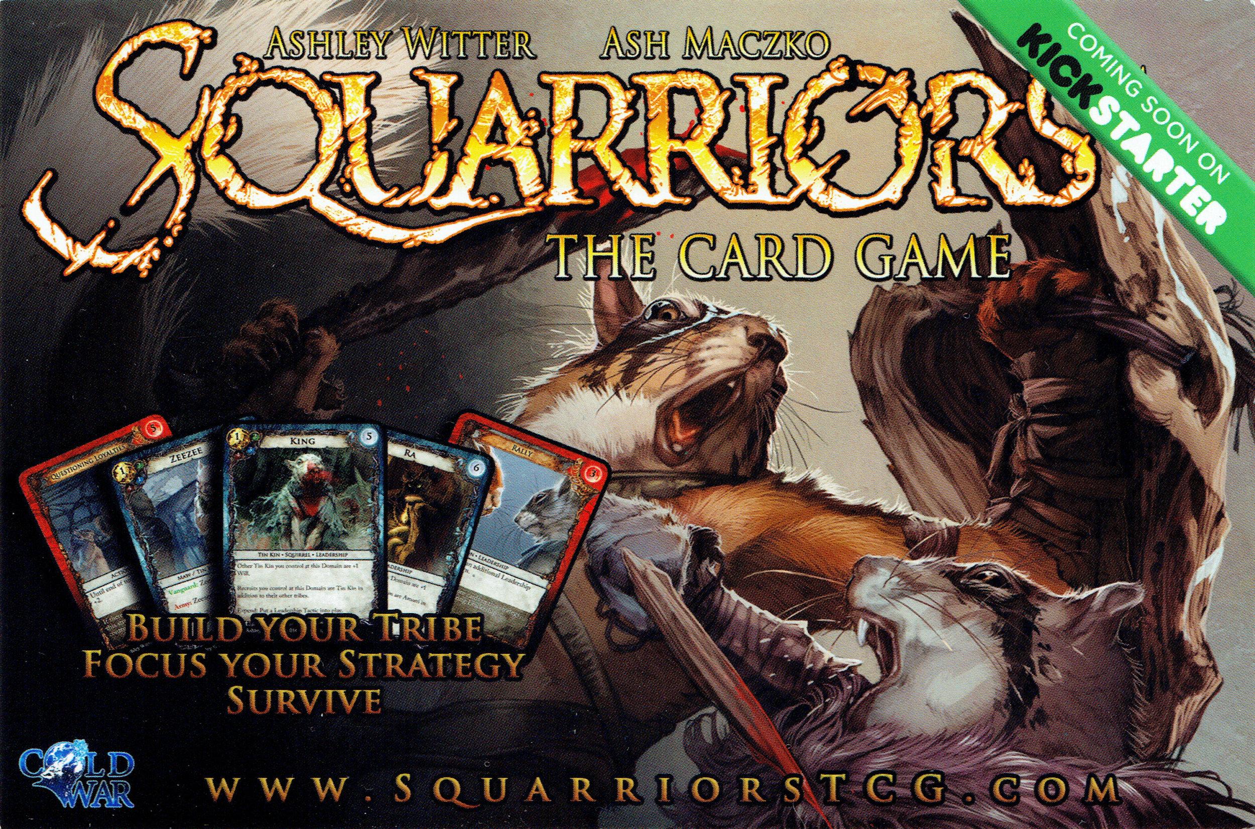 Squarriors: The Card Game KickStarter banner.