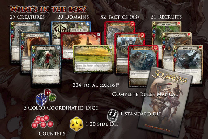 What comes in the Squarriors: The Card Game box?