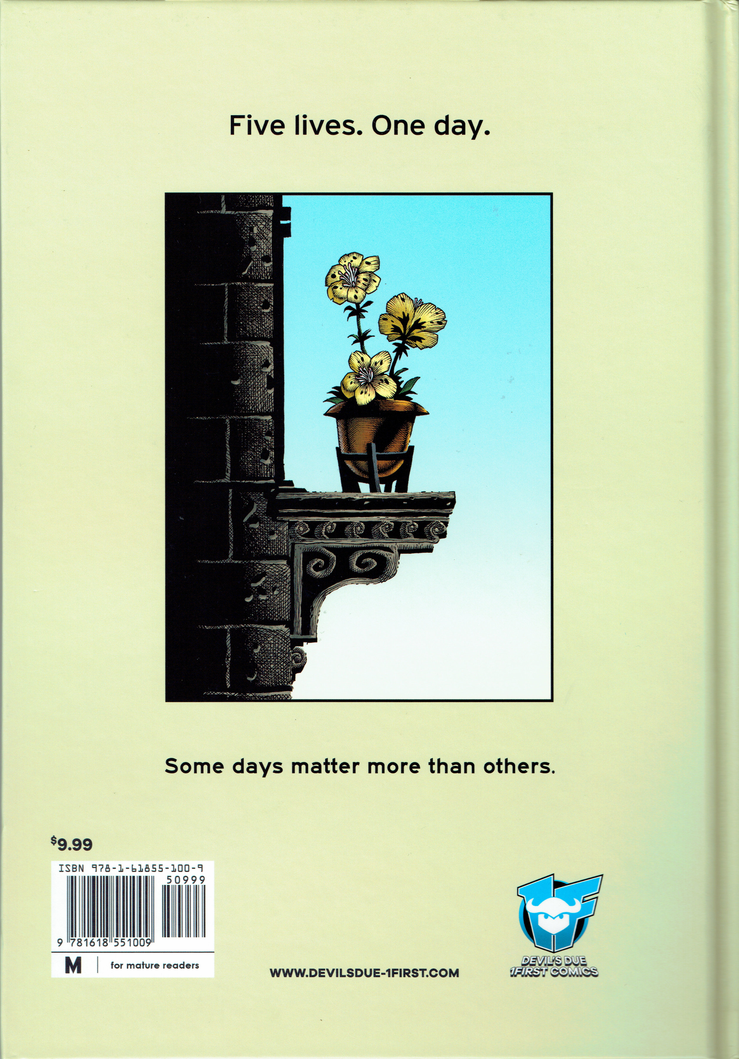 Lives graphic novel from 1First Comics. (back cover)
