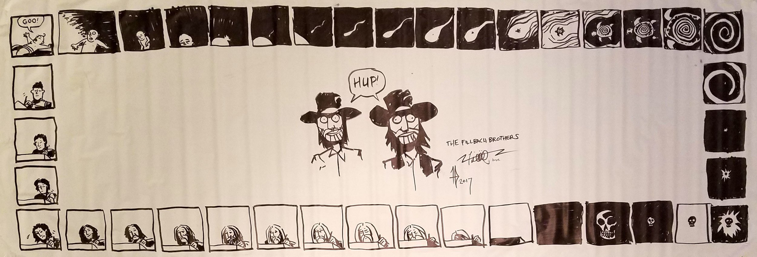 The Cycle of Life comic that the Brothers drew on their table during the convention.