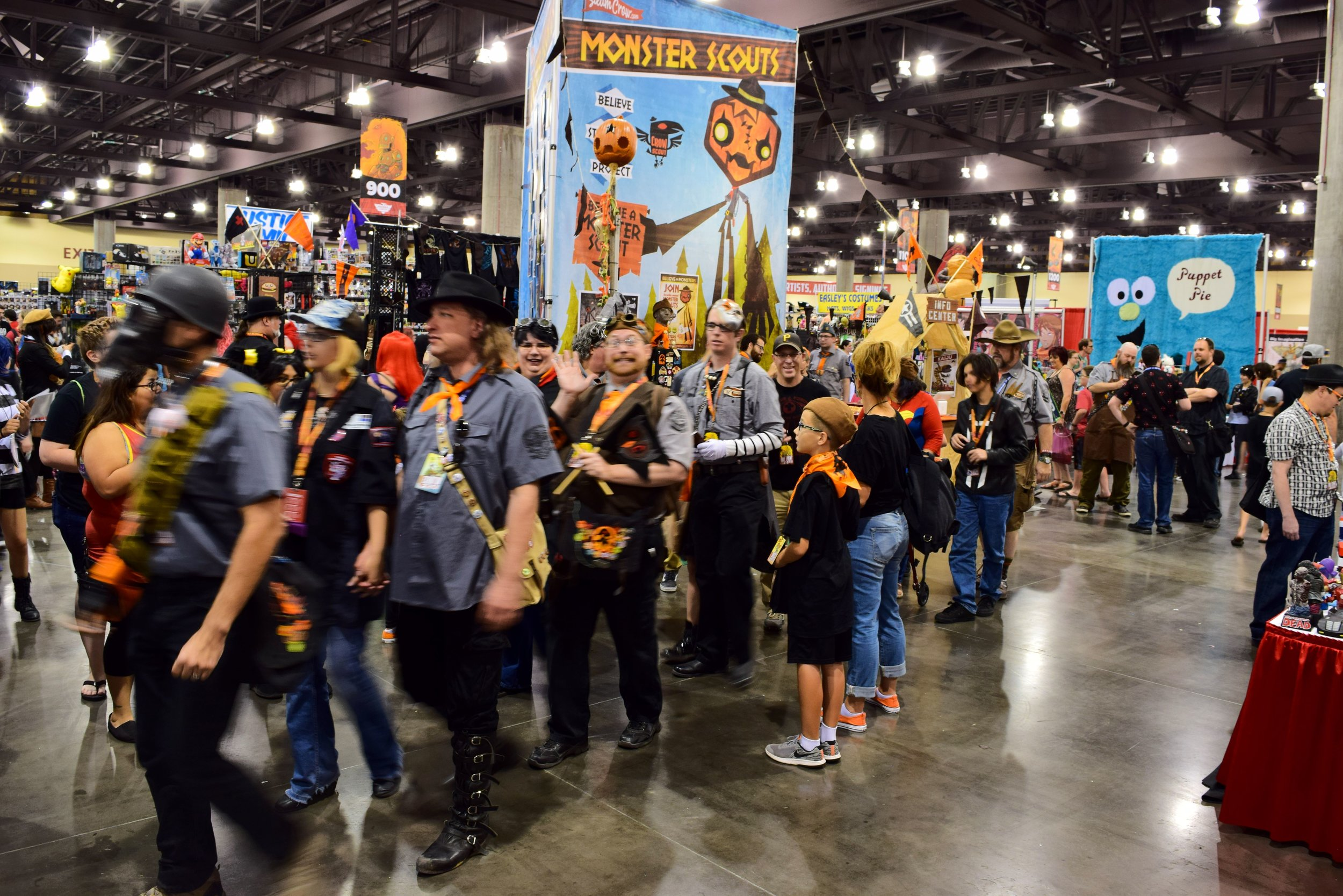 Monster Scouts on parade at Phoenix Comic Con 2017.