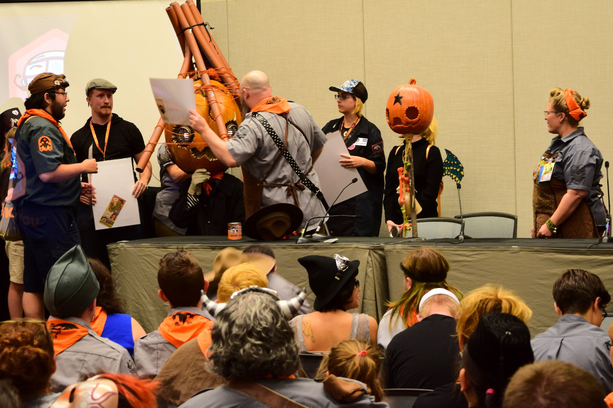 Prizes are awarded at the Monster Scout Rally at Phoenix Comic Con 2017.