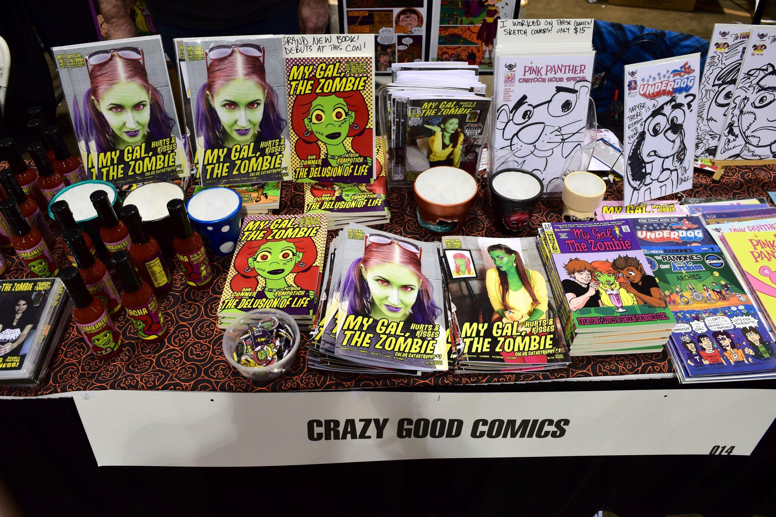 Comics from Dan Conner at Denver Comic Con 2017.