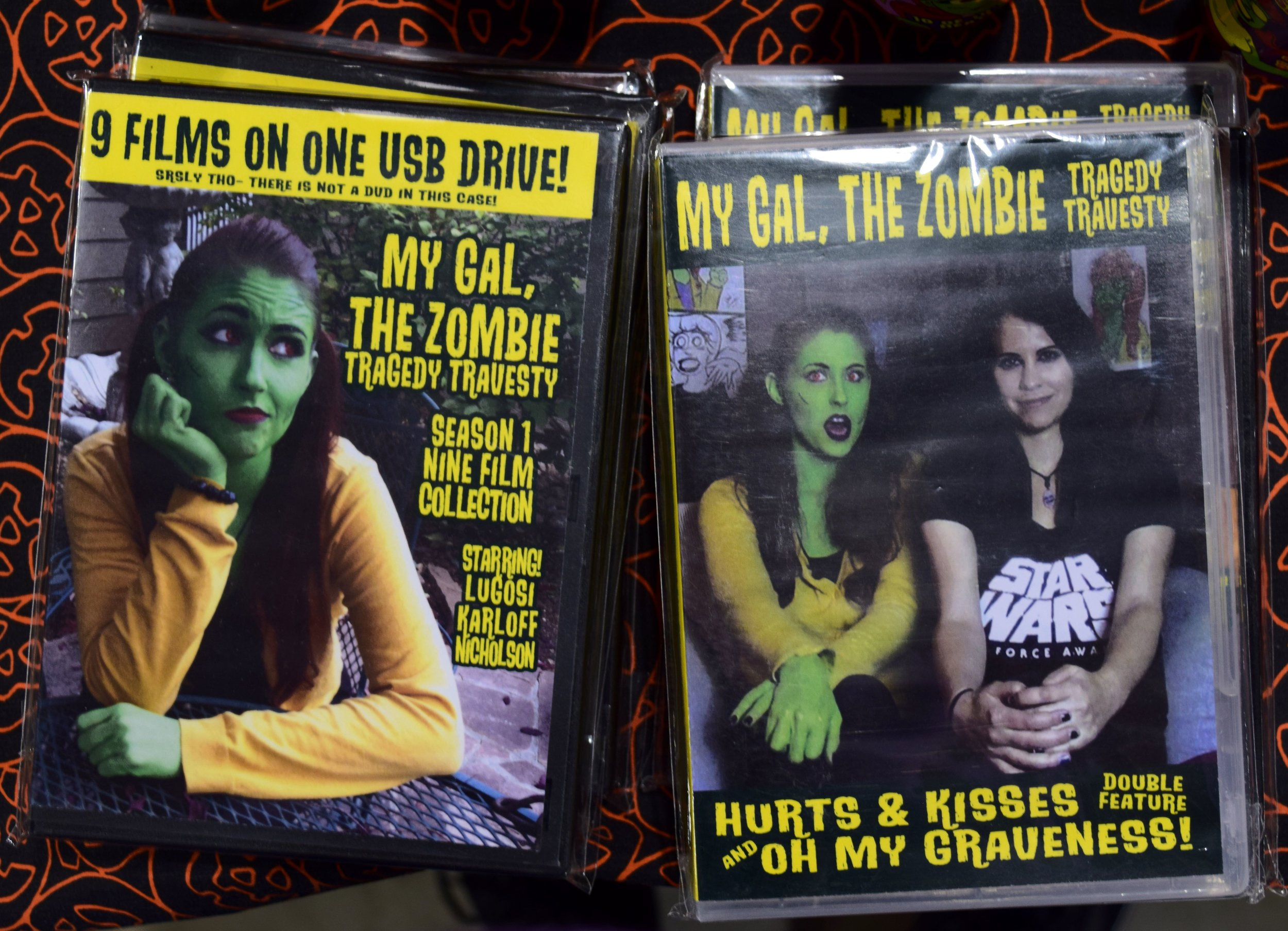 My Gal the Zombie DVDs at Denver Comic Con 2017.