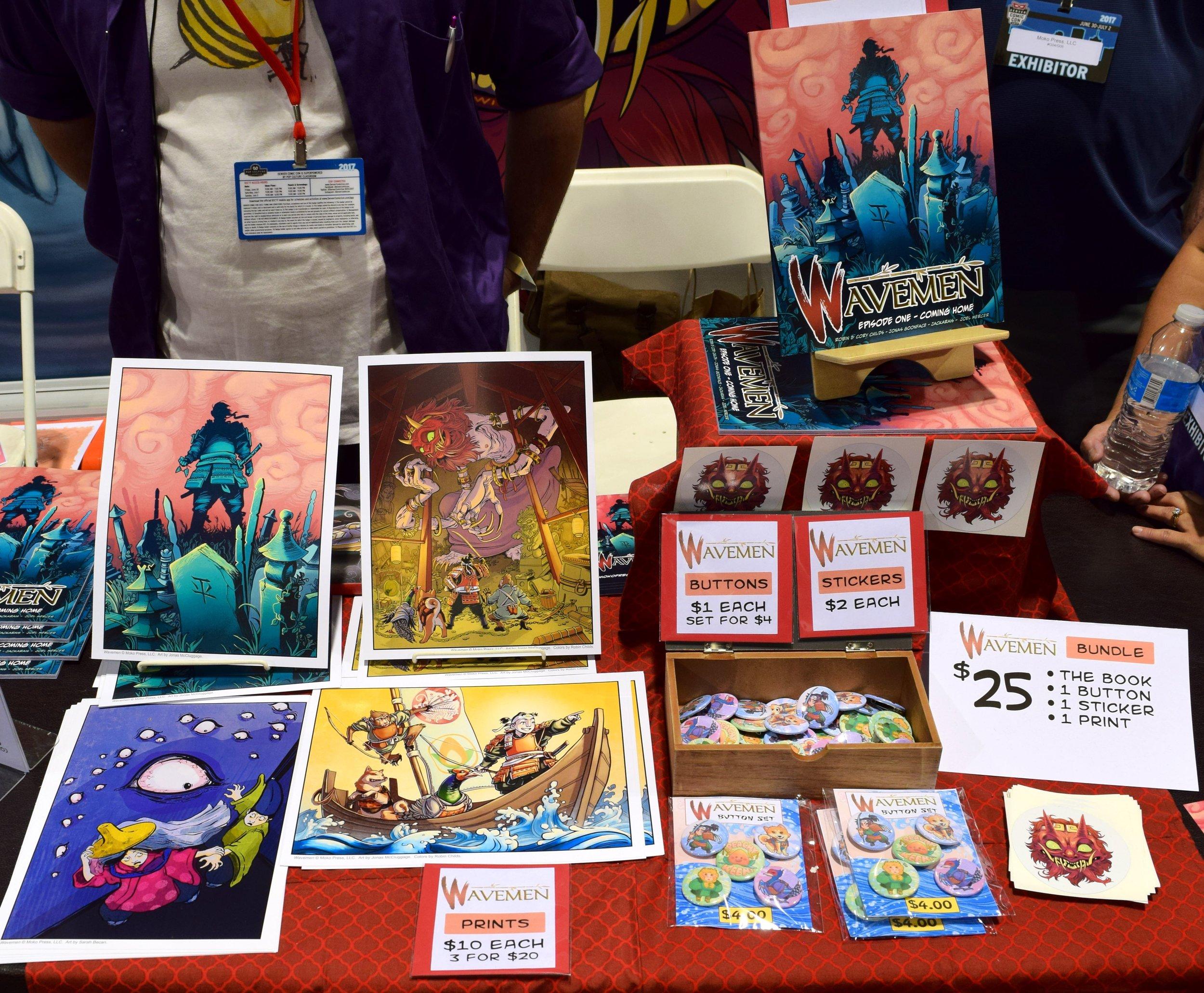 Wavemen comics and prints at Denver Comic Con 2017.