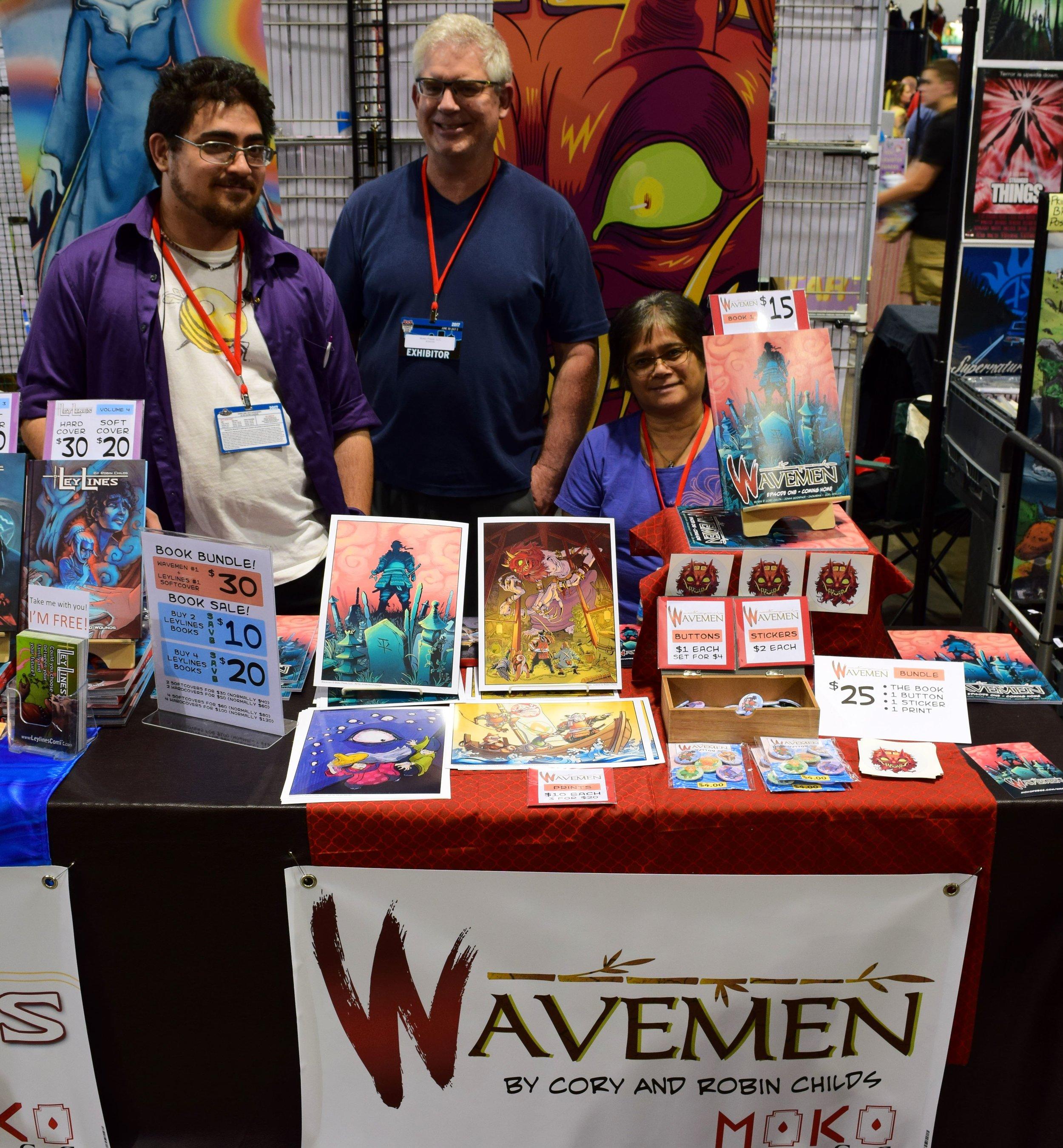 The Wavemen table at Denver Comic Con 2017.