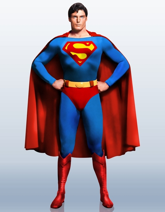 Christopher Reeves as Superman.