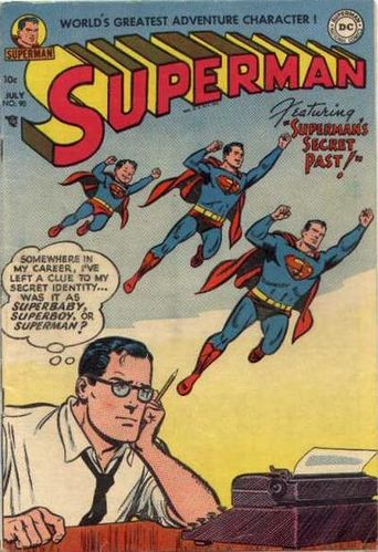 Superman #90 released in July 1954. Cover by Win Mortimer.