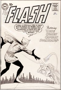 Carmine Infantino and Joe Giella original cover art for The Flash #117.