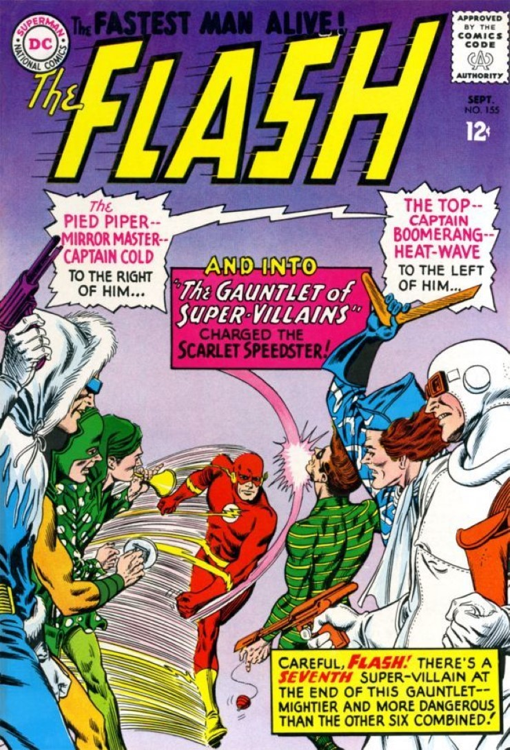 The Flash #155. Pencils by Carmine Infantino.