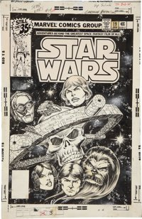 Carmine Infantino and Bob Wiacek original cover art for Star Wars #19