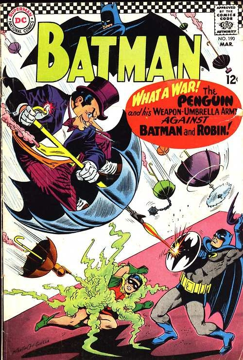 Batman #190. Cover by Carmine Infantino & Joe Giella.