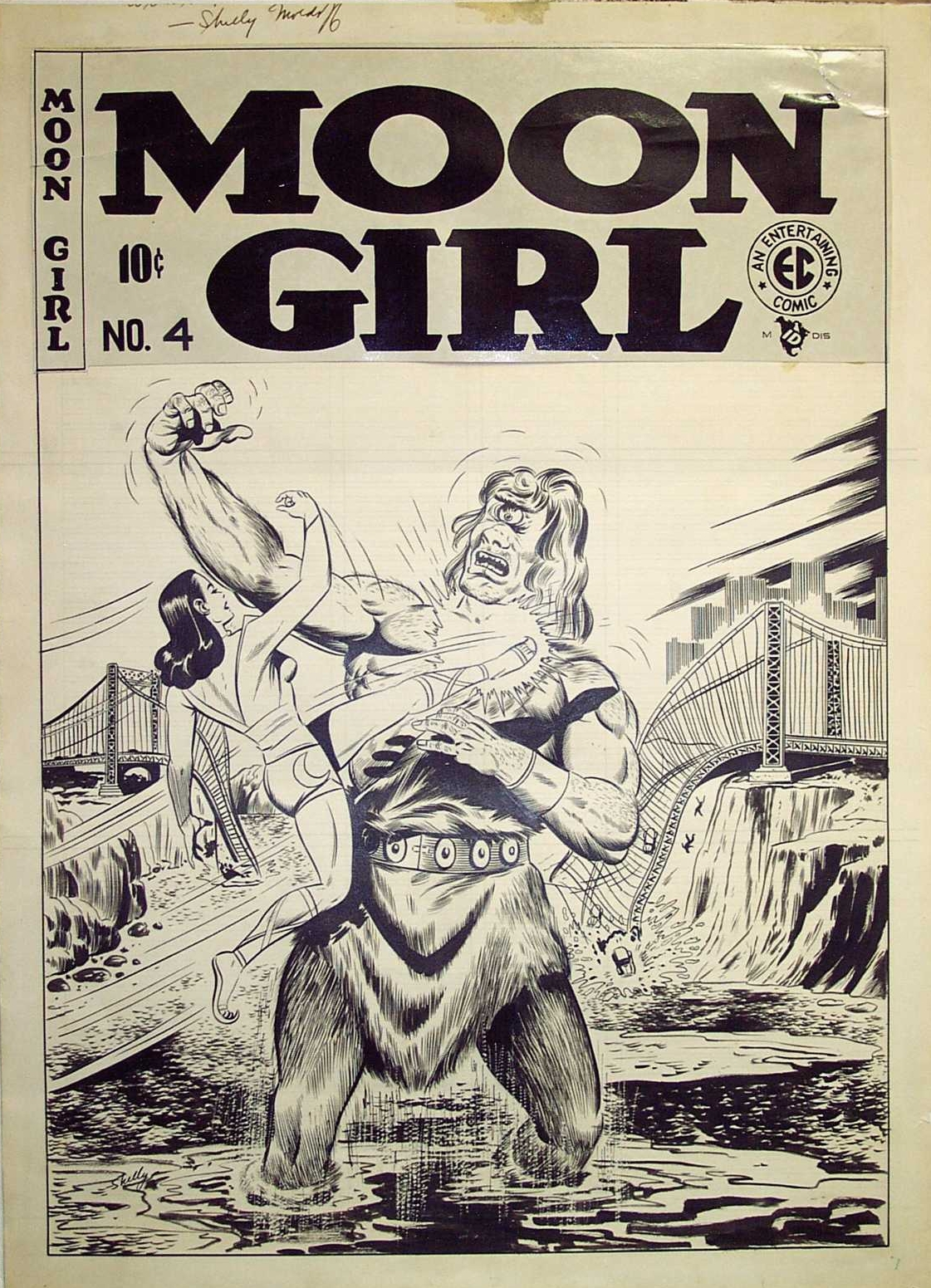 Moon Girl #4 original cover art by Sheldon Moldoff.