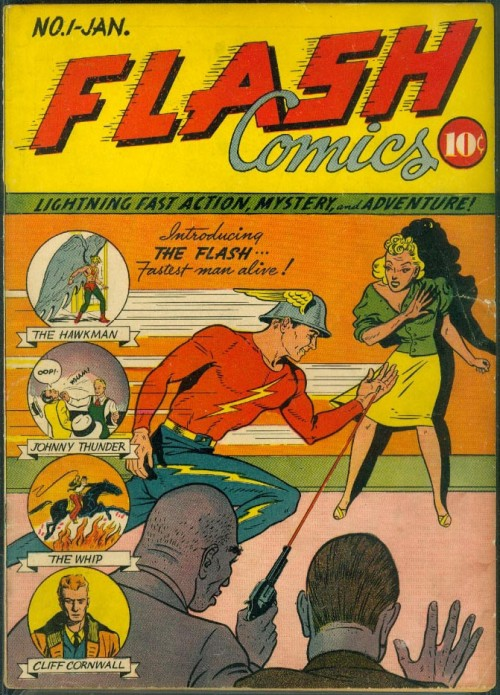 Flash Comics #1. Cover pencils by Sheldon Moldoff.