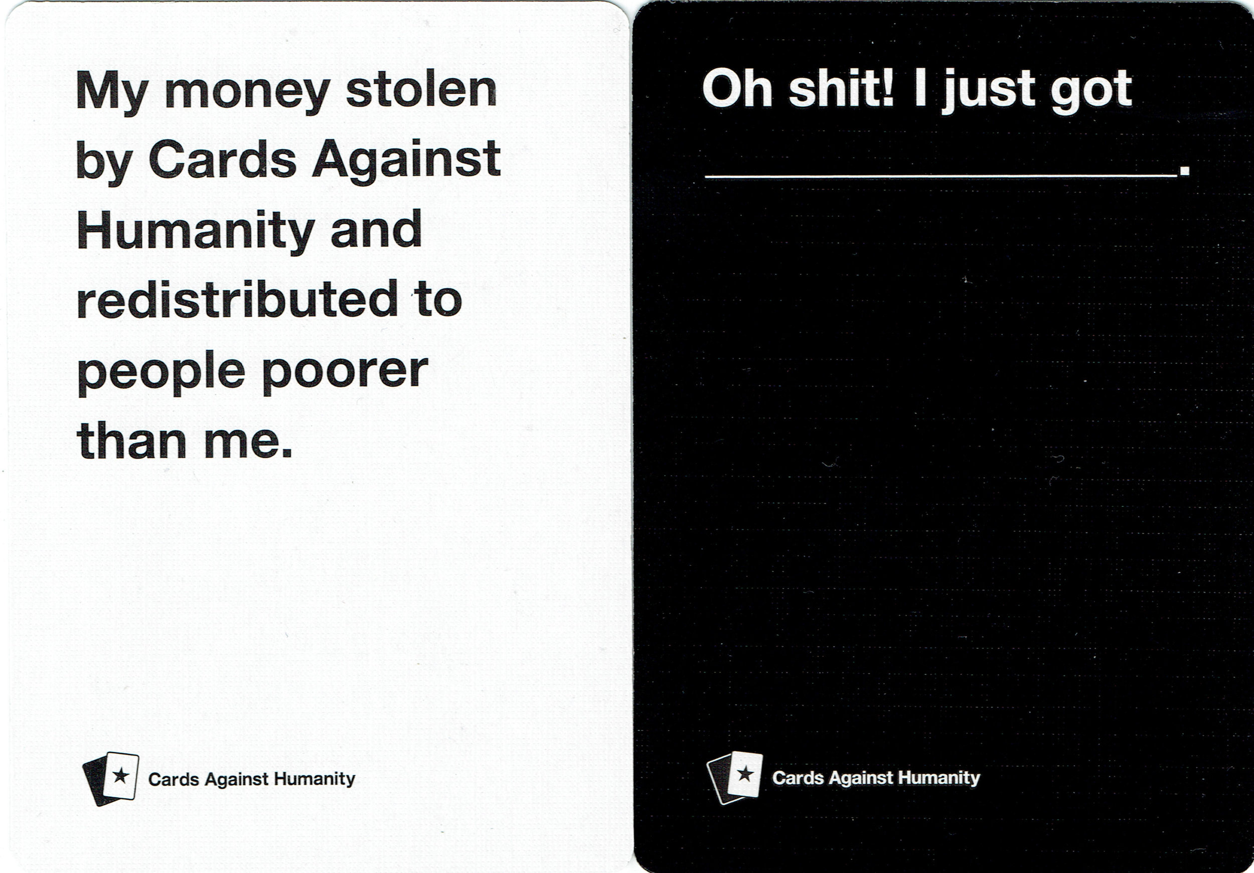 Cards Against Humanity Saves America - Day 3 New Cards (front)