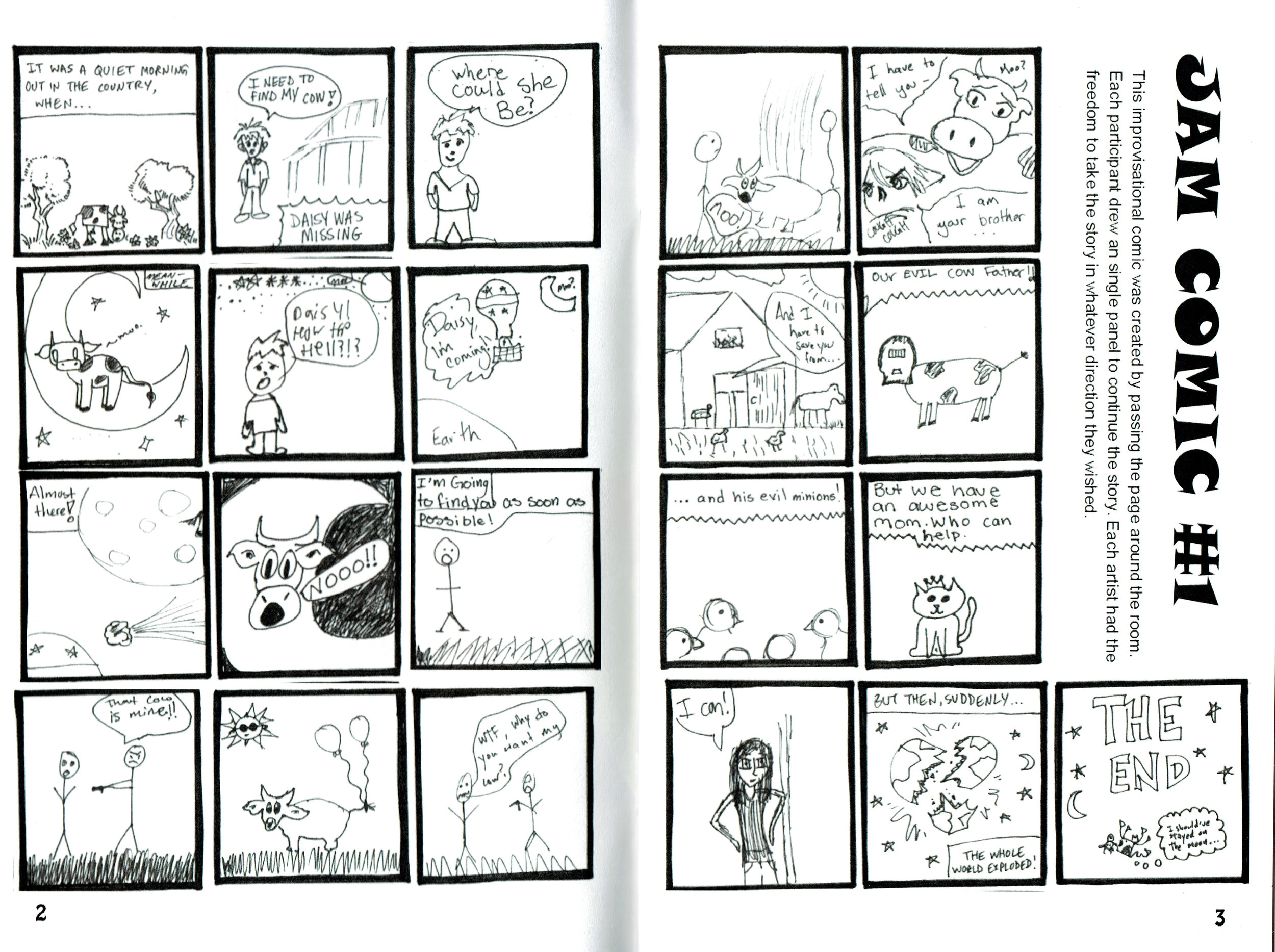 A jam Comic from the Mutant Rabbit 2016 Anthology