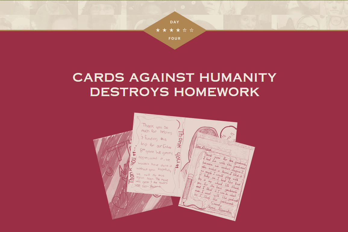 Cards Against Humanity Saves America - Day 4   Written by Neil Greenaway