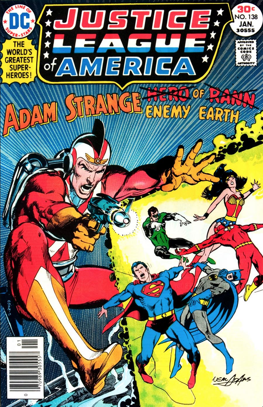 Justice League of America () # 138. Cover by Neal Adams.