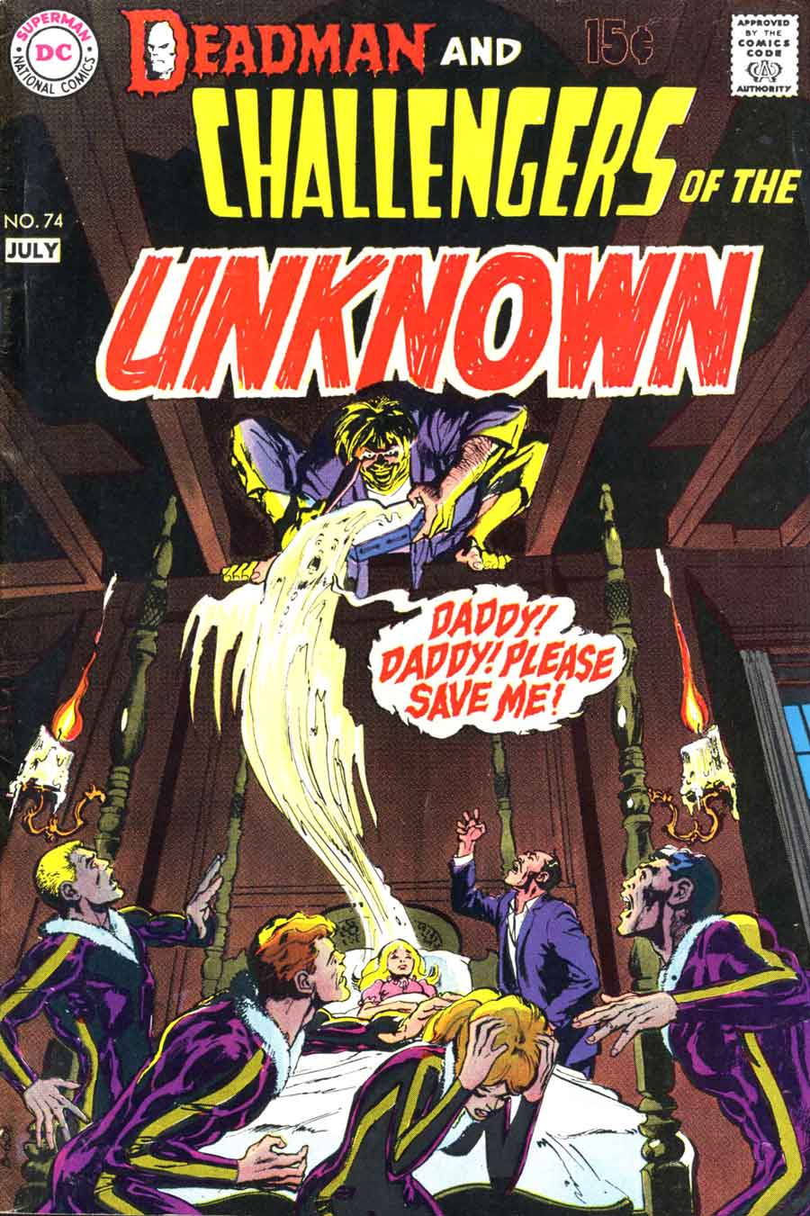 Challengers of the Unknown (1958) #74. Cover by Neal Adams.